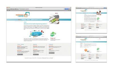 webdesign site ingénierie-santé