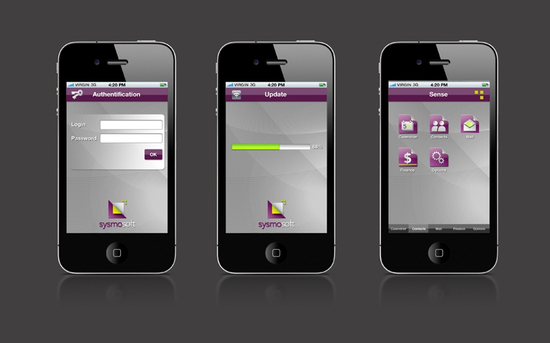 Design de l'application Sysmosoft