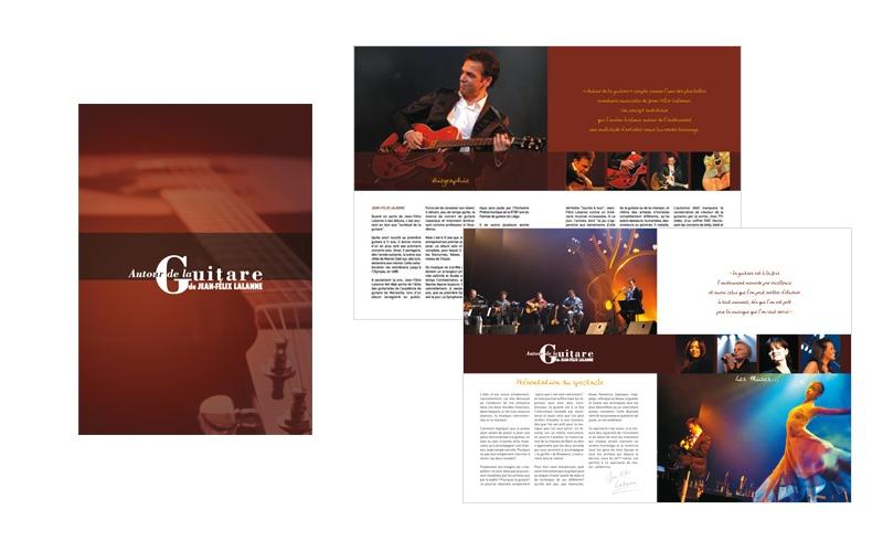 """Dossier de presse Jean-Félix Lalanne pour le spectacle """"Autour de la guitare"""""""