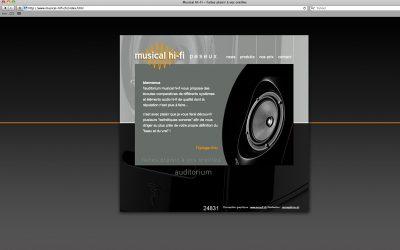webdesign site musical hi-fi