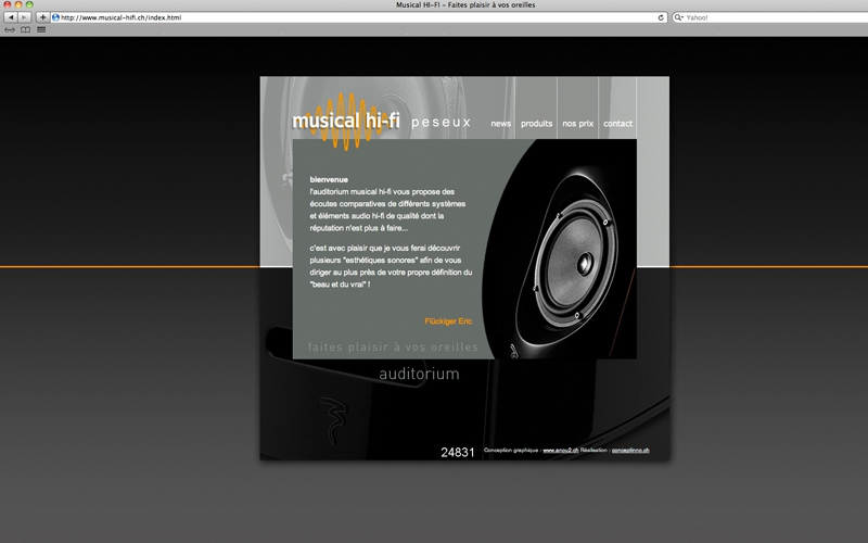 webdesign site musical hi-fi
